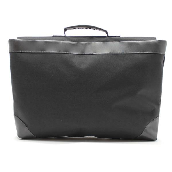 сумка портфель простой для ноутбука лептом без молнии черный экокожа сзади