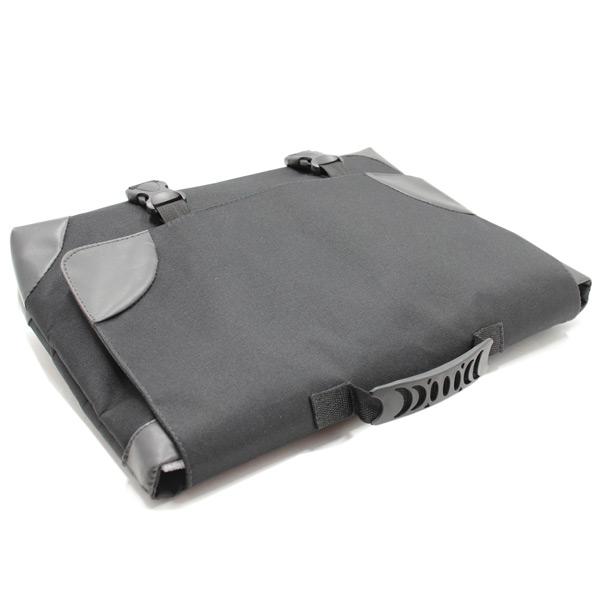 сумка портфель простой для ноутбука лептом без молнии черный экокожа сверху