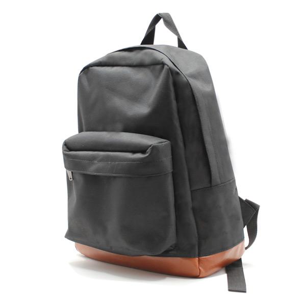 рюкзак повседневный городской мужской женский черный простой R-01 сбоку