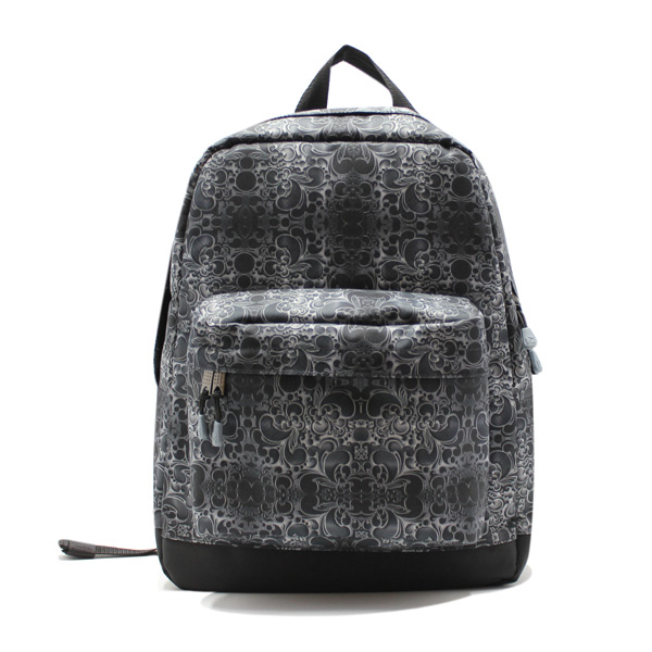 рюкзак повседневный городской мужской женский принтованный простой R-01 спереди