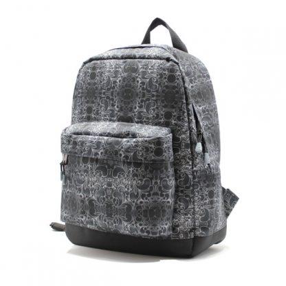 рюкзак повседневный городской мужской женский принтованный простой R-01 сбоку