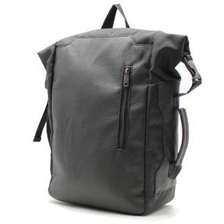 рюкзак повседневный городской спортивный мужской женский черный R-02 сбоку