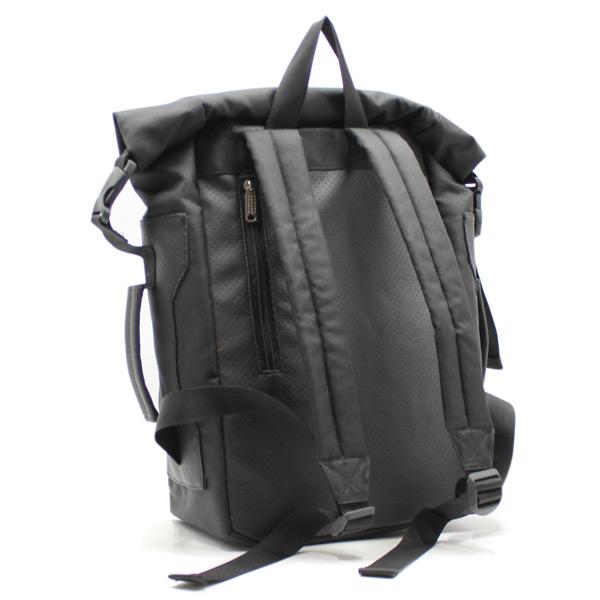 рюкзак повседневный городской спортивный мужской женский черный R-02 сзади
