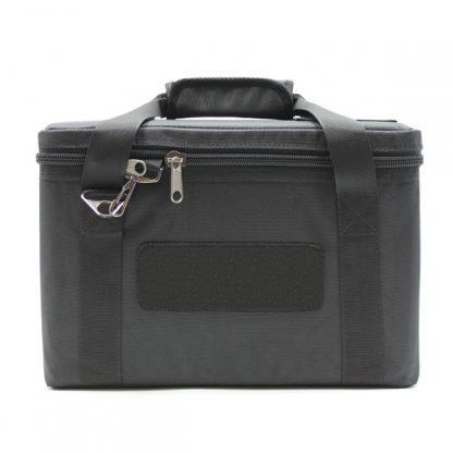 сумка для прибора кофр маленькая перегородки черный спереди