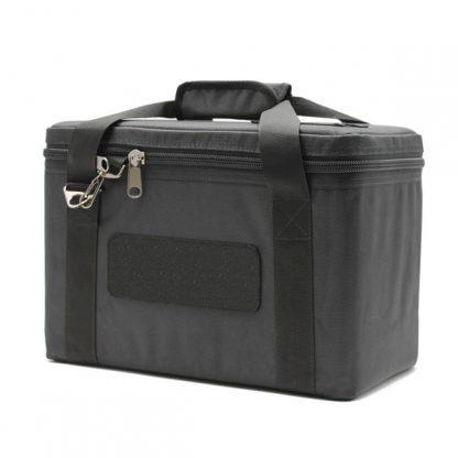 сумка для прибора кофр маленькая перегородки черный сбоку