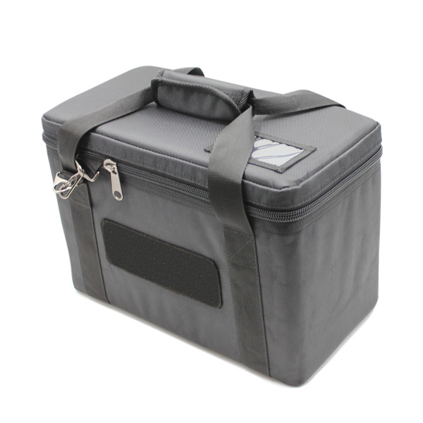 сумка для прибора кофр маленькая перегородки черный сверху
