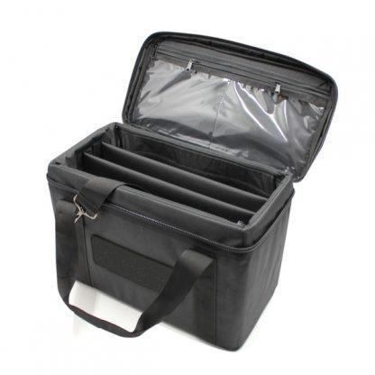 сумка для прибора кофр маленькая перегородки черный внутри