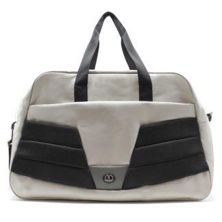 сумка дорожная для спорта путешествия большая вместительная бежевый спереди