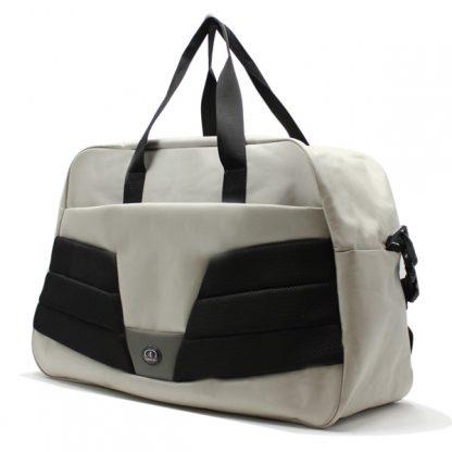 сумка дорожная для спорта путешествия большая вместительная бежевый сбоку