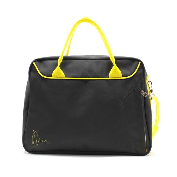 сумка городская для ноутбука для бумаг поездка черная спереди