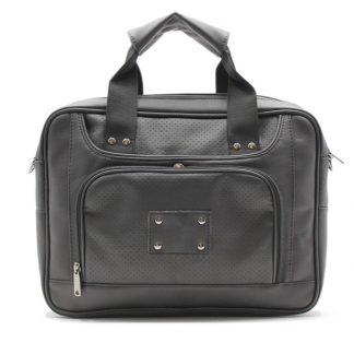 сумка портфель для ноутбука для бумаг черная промо реклама карман кожа экокожа спереди