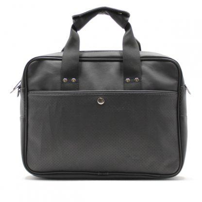 сумка портфель для ноутбука для бумаг черная промо реклама карман кожа экокожа сзади