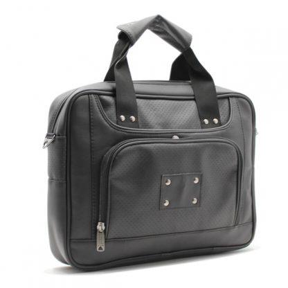 сумка портфель для ноутбука для бумаг черная промо реклама карман кожа экокожа сбоку