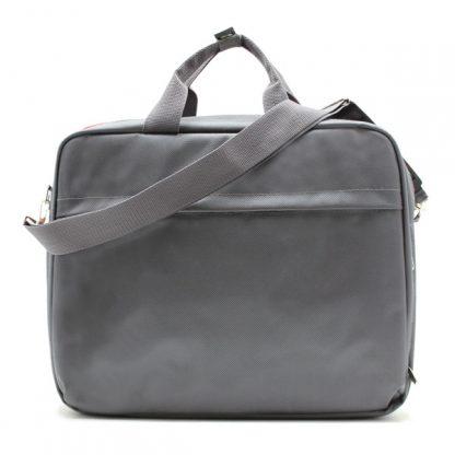 сумка портфель для ноутбука для бумаг деловая серая сзади