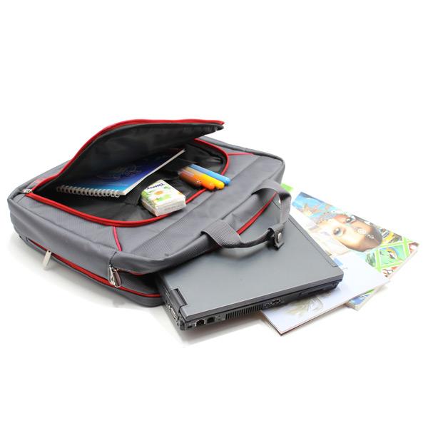 сумка портфель для ноутбука для бумаг деловая серая внутри