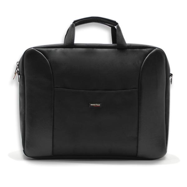 сумка портфель для ноутбука для бумаг поездка черная промо реклама спереди