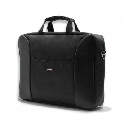 сумка портфель для ноутбука для бумаг поездка черная промо реклама сбоку