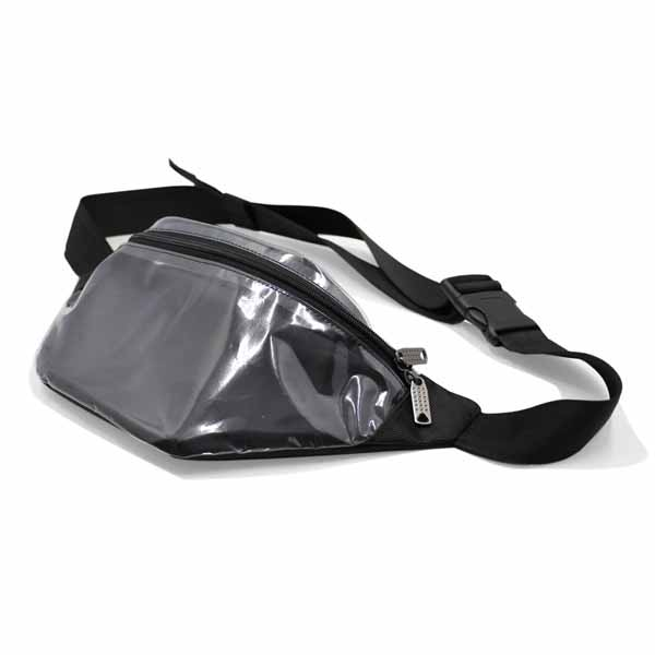 сумка поясная маленькая для документов для путешествий компактная прозрачная сбоку