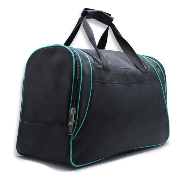 сумка спортивная большая мужская для путешествий дорожная черная сзади