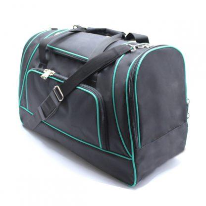сумка спортивная большая мужская для путешествий дорожная черная сверху