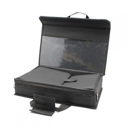Сумка кофр для прибора и деталей жёсткий чёрный карман