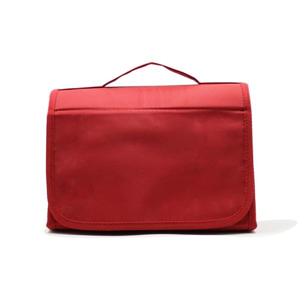 косметичка органайзер дорожная прозрачная красная спереди