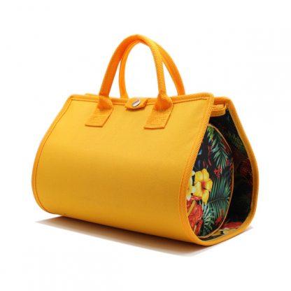 косметичка органайзер дорожная сетка желтый кругла сбоку