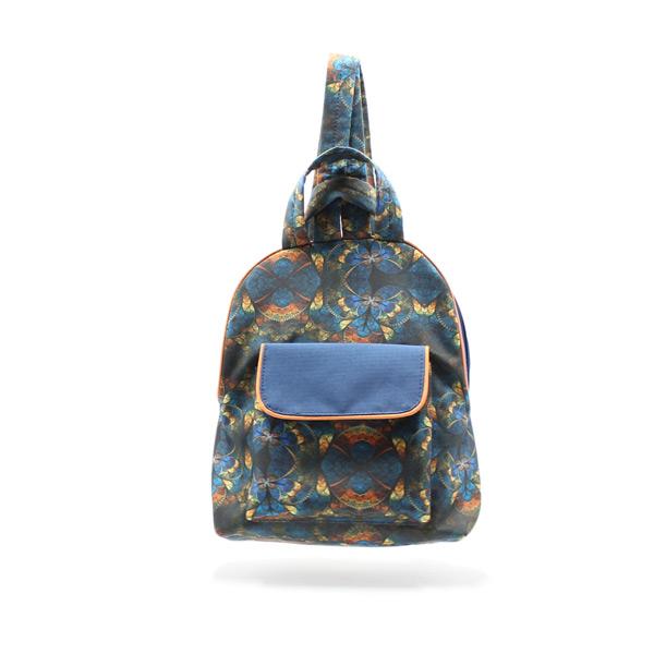рюкзак дамский небольшой сумка принт спереди
