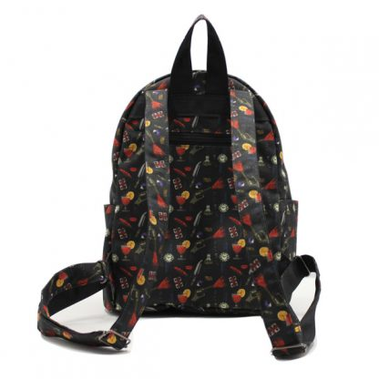 рюкзак городской маленький дамский принт сзади