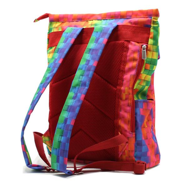 рюкзак городской небольшой спортивный яркий принт сзади