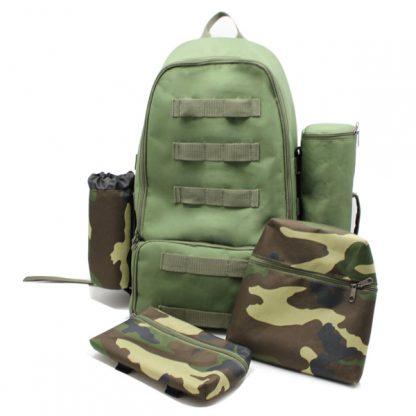 рюкзак туристический для охоты исследования путешествия хаки карманы
