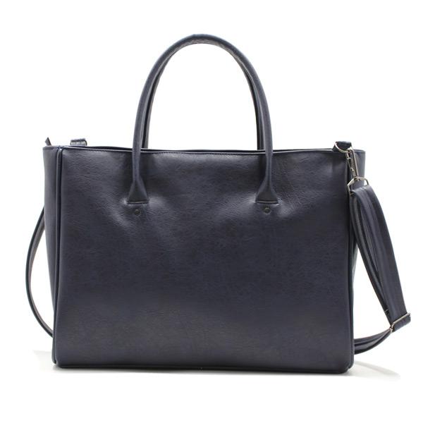 сумка дамская экокожа повседневная синяя спереди