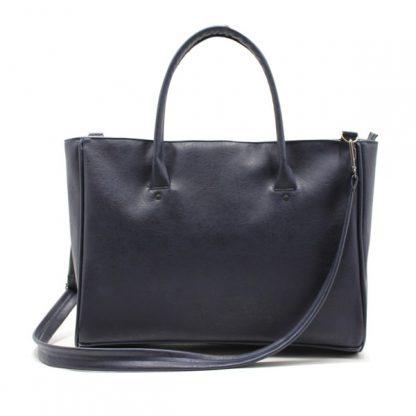 сумка дамская экокожа повседневная синяя с ремнём