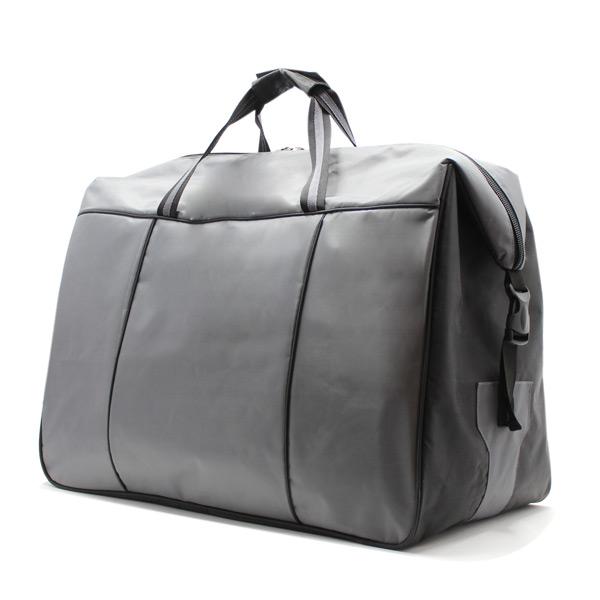 сумка дорожная спортивная большая серая мужская сбоку