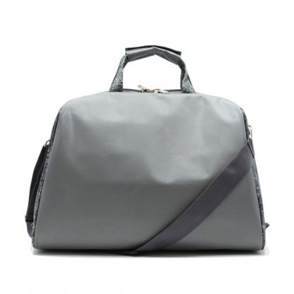 сумка фитнес ручная кладь дорожная самолёт серый сзади