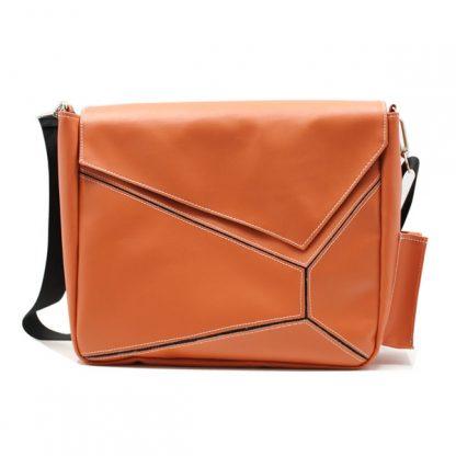 сумка на плечо промо акция реклама фирменный стиль оранжевая спереди