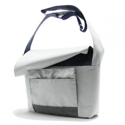 сумка плечо повседневная универсальная серая курьер сбоку