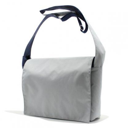 сумка плечо повседневная универсальная серая курьер с клапаном