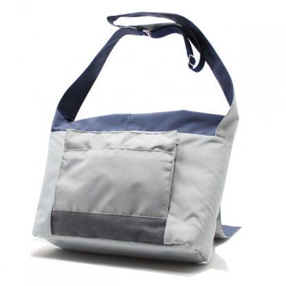 сумка плечо повседневная универсальная серая курьер карман