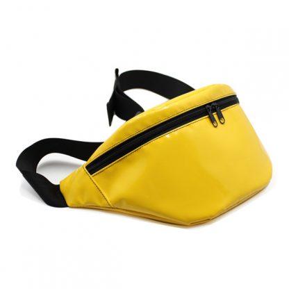 сумка поясная яркая желтая маленькая спереди