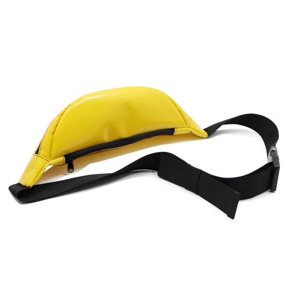 сумка поясная яркая желтая маленькая карман