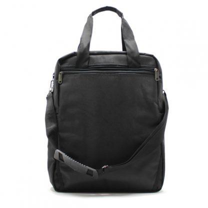 сумка рюкзак трансформер реклама ноутбук унисекс черный с ремнём