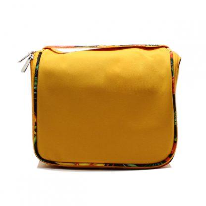 сумка вместительная косметичка квадратная на молнии спереди