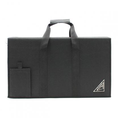 Сумка кофр для прибора с логотипом жесткая чёрная спереди