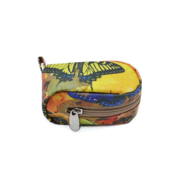 ключница мини сумка для монет экокожа бабочки