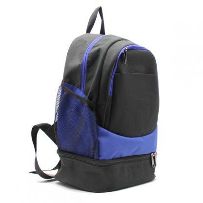 рюкзак спортивный с отделением для обуви для фитнеса большой чёрный сбоку