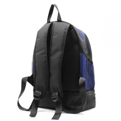 рюкзак спортивный с отделением для обуви для фитнеса большой чёрный сзади