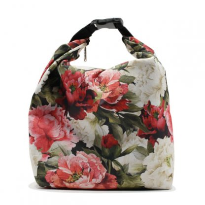 сумка холодильник маленькая для одного обеда цветы спереди
