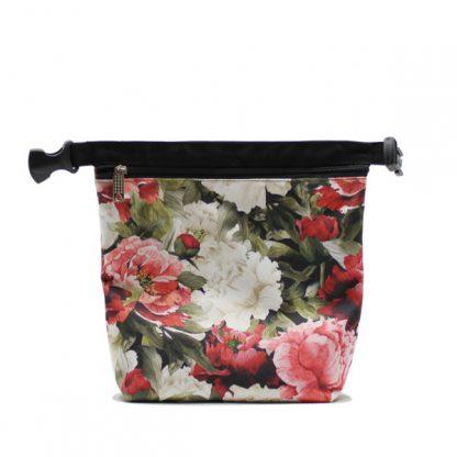 сумка холодильник маленькая для одного обеда цветы маленькая растёгнутая
