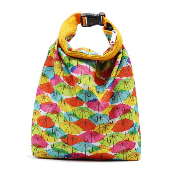 сумка косметичка комплект с ручкой цветная зонтики спереди